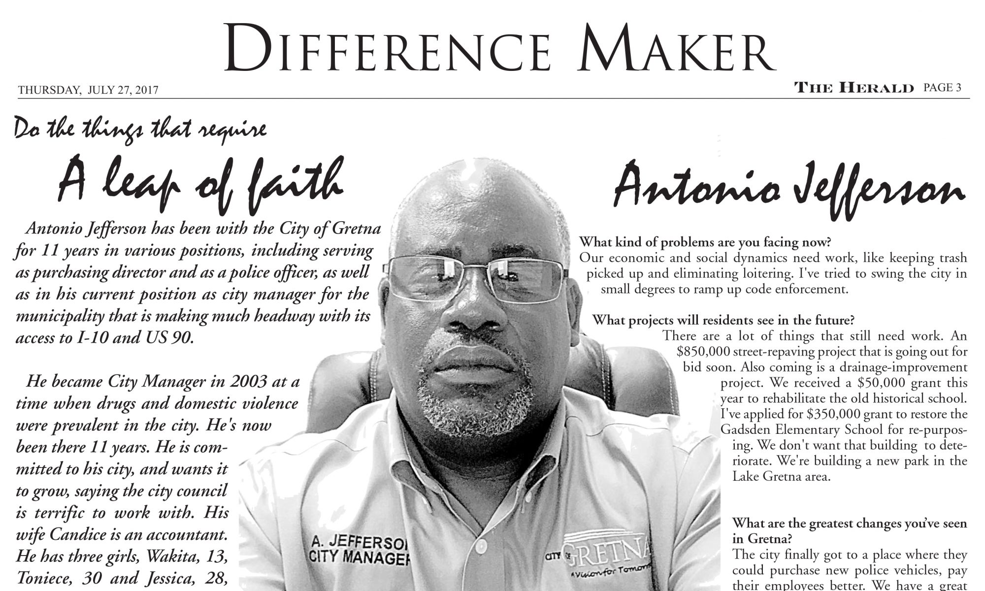 Difference Maker Antonio Jefferson
